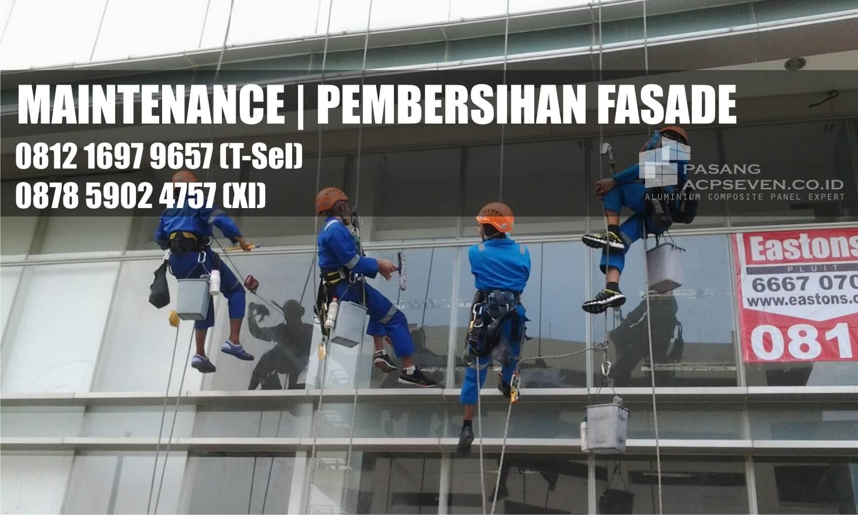 jasa bersih kaca gedung surabaya, maintenance fasade gedung, pembersihan fasade gedung surabaya
