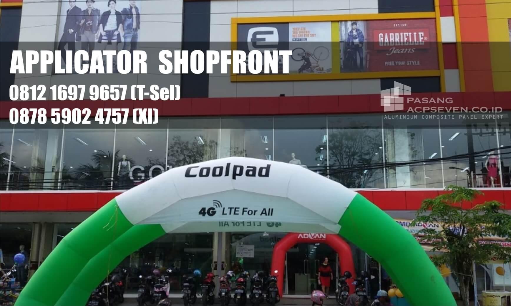 shopfront kontraktor surabaya, shoppfront aplicator surabaya, shopfront architecture surabaya